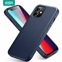 ESR Case for iPhone 12 / 12 Pro/ Mini / 12 Pro Max, Genuine Leather Back Cover