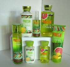 7 Pc Bath & Body Works Fresh Brazil Citrus Set Lotion Shower Gel Mist Cream Lot