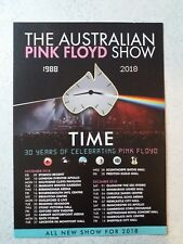 2018 - THE AUSTRALIAN PINK FLOYD SHOW UK TOUR FLYER LEAFLET