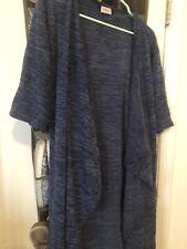 LuLaRoe small solod blue sweater matrial shirley Kimono Coverup