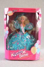 1993 BIRTHDAY Barbie Doll BLUE GOWN w Sash 11333 Prettiest Present of All NRFB