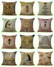 US Seller- 10pcs cushion covers bees bumble bee hive cheap throw pillow case