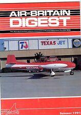 Air Britain Digest Magazine 1991 Summer Percival Gull,Taylorcraft,Muse Air