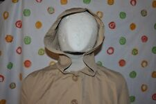 Vintage ADG  WOMENS Jr size 11 Middy  Hooded Trench All Weather  COAT EUC