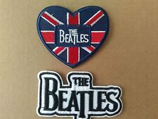 THE BEATLES DOUBLE PATCH OFFER.GREAT VALUE. SEW OR IRON ON  PATCHES