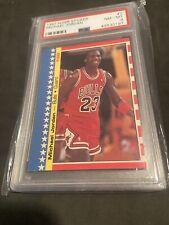1987-88 Fleer Sticker #2 Michael Jordan PSA 8 High End! Goat MVP 🔥🔥