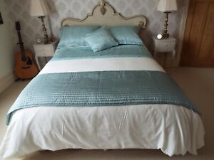 CATHERINE LANSFIELD KING SIZE DUVET SET / CURTAINS AND ACCESORIES IN DUCK EGG &