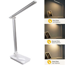 Dimmable LED Desk Table Lamp Study Reading Light USB Rechargeable Touch Switch