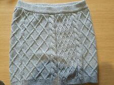 Girls Short Grey Knitted H&M Skirt Age 10-12 Years