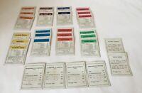 Monopoly Board Game 1938 UK Pre-War Vintage  Version Mortgage Titles Deeds