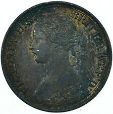 More details for 1868 farthing gb uk queen victoria very nice collectible coin  #wt27958