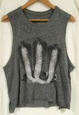 Women's Chaser Tank Top Snake Print Sleeveless Rock n Roll Size Small