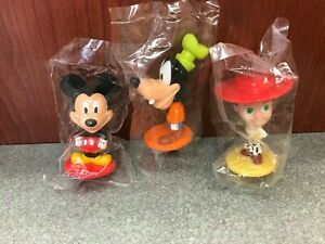 Kellogg's Cereal Toys Sealed Disney Bobbleheads, Mickey Goofy & Jesse Toy Story
