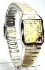 New Citizen Ladies  Two-tone 11 Genuine -Crystals, Gold-Dial, Dress Watch