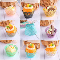 Hot! Cake Cup Laser Cut Cupcake Wrappers Wraps Wedding Birthday Party Supplies