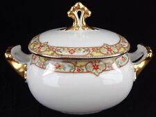 Vignaud Limoges France Pattern VIG167 Sugar Bowl And Lid