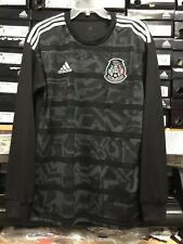 Adidas Mexico Black Jersey (playera De Mexico ) Long Sleeve Size Large   Only