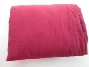 """Twin Fitted Sheet Single No-Iron Percale Burgundy Red 39"""" x 75"""" Soft Good Used"""