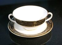 Beautiful Royal Doulton Albany H5041 Cream Soup Bowl And Saucer