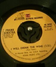 """FRANK SINATRA - I WILL DRINK THE WINE 7"""" VINYL"""