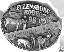 1998 Ellensburg Rodeo Commemorative Belt Buckle