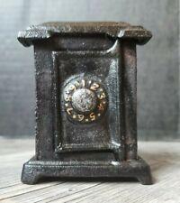 "Vintage Cast Iron Coin Bank Safe Combination Detailed Heavy Safe Deposit 4"""