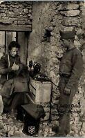 Lassie Mending Soldiers Clothes Salvation Army Vintage Postcard II