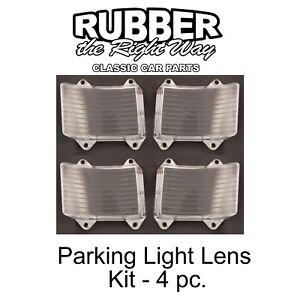 1966 Ford Park Light Lens Kit - 4 Piece - USA MADE