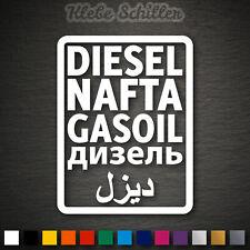 14388 Diesel Aufkleber 95x125mm Nafta Gasoil Arabisch Tank Sticker Tuning Fun