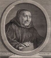 Portrait XVIIIe Bernard De Montfaucon Moine Bénedictin Saint Maur Archéologue