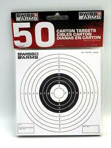 Airsoft paquet de 50 cibles carton SWISS ARMS 14x14cm neuf en stock