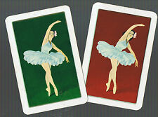 Playing Swap Cards 2 SINGLE  VINTAGE  DECO  BALLET  DANCER  W111