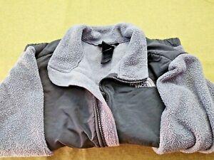 The North Face Boys  Black Gray Fleece Denali Jacket Size M Medium Youth 10-12