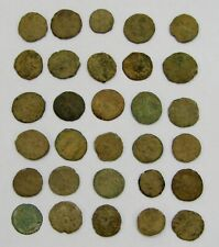 Lot of (30) Ancient Roman Archaeological Dig Coins - Uncleaned - Approx 15mm ea.