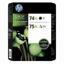 HP 74XL BLK/ 75XL C Brand New