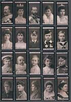 1902 Wills's Royalty, Notabilities & Events Tobacco Cards Complete Set of 100