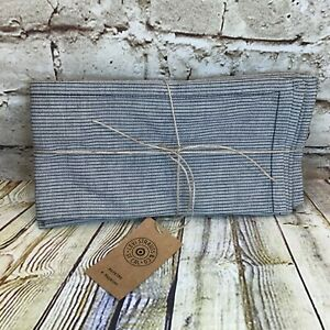 Levi's x Target Limited Edition Set of 4 Navy Striped Dinner Napkins Cotton