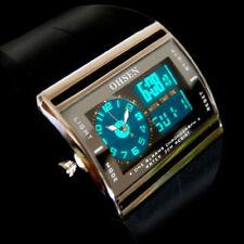 Men Digital LED Date Watch Rubber Waterproof Sport Boy Analog Quartz Wrist Watch
