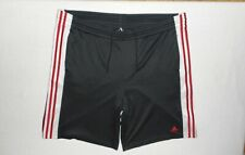 Men's Old Adidas 3-Sripe Shorts *Sz Xl* Black-Red-White * No Reserve Auction