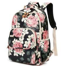 Women Backpack Waterproof USB Laptop School Bag For Girl Stylish Flower Printing
