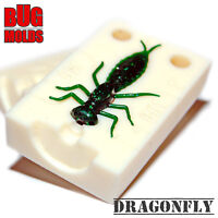 Soft Plastic Mold Bait Mold DIY Do  Dragonfly 1,4 inch Bug Larvae Insect Fishing