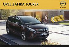 Prospekt Opel Zafira Tourer 8/11 Autoprospekt 2011 Broschüre Auto brochure