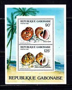Gabon Souvenir Sheet #622a, MNH OG, XF, topical, seashells