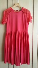 ASOS New Dress Size 14 lace coral red