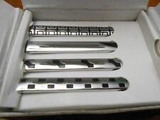 4PCS B.M.C  Mens Silver Metal Simple Necktie Tie Clip Bar Clasp