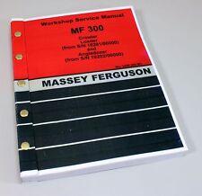 MASSEY FERGUSON MF 300 CRAWLER ANGLE DOZER WORKSHOP SERVICE MANUAL SHOP BOOK