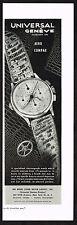 1940's Vintage 1946 Universal Aero Compax Chronograph Watch - Paper Print AD