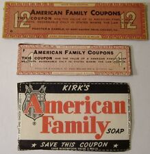 Kirk's American Family Soap Coupons Assortment
