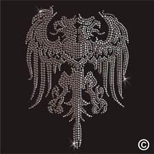 Pegamento Rhinestone Motif De Dos Cabezas Dragon Diamante transferencia Hierro En Gema De Cristal