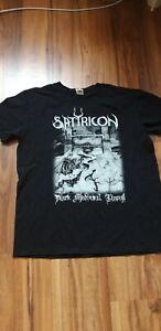 Satyricon Shirt (L) Black Metal Enslaved Emperor Mayhem